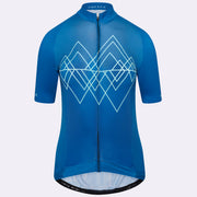 Grand Tour Short Sleeve Cycling Jersey Geo Female - Blue Peak