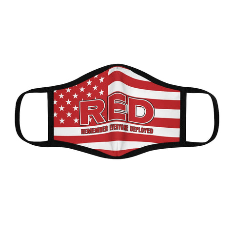 """Remember Everyone Deployed"" Fitted Polyester Face Mask"