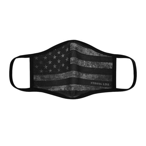Distressed Flag Fitted Polyester Face Mask