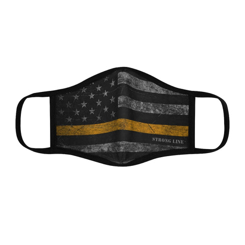 Gold Line Flag Fitted Polyester Face Mask