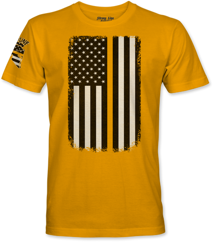 Gold Line Flag T-Shirt
