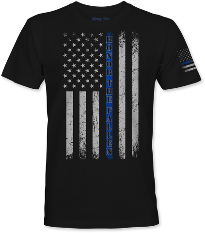 """Honor The Fallen"" (Blue Line) T-Shirt"