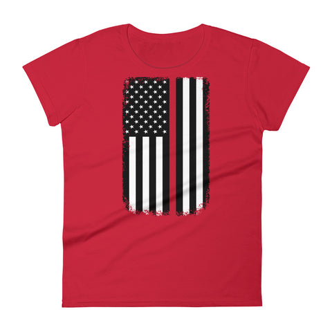 Women's Red Line Flag T-Shirt
