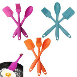 LumiParty 3PCS Silicone Spatula Spoon Brush Set Cooking Utensil Tool Kit Heat Resistant-35