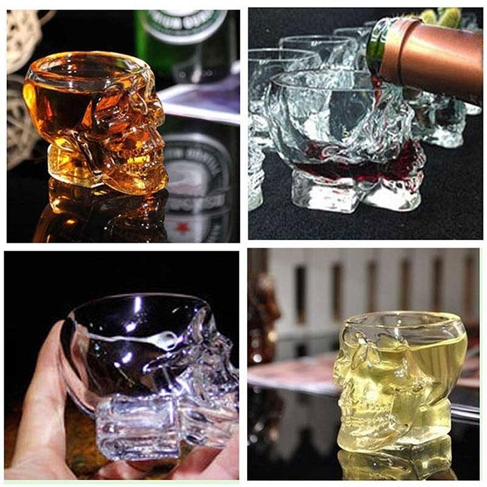Bones Armor Warrior Skull Designed Wine Glass Cup Mug Gothic for Home Barware Drinkware Whiskey Wine Skull Cup Water Drinking
