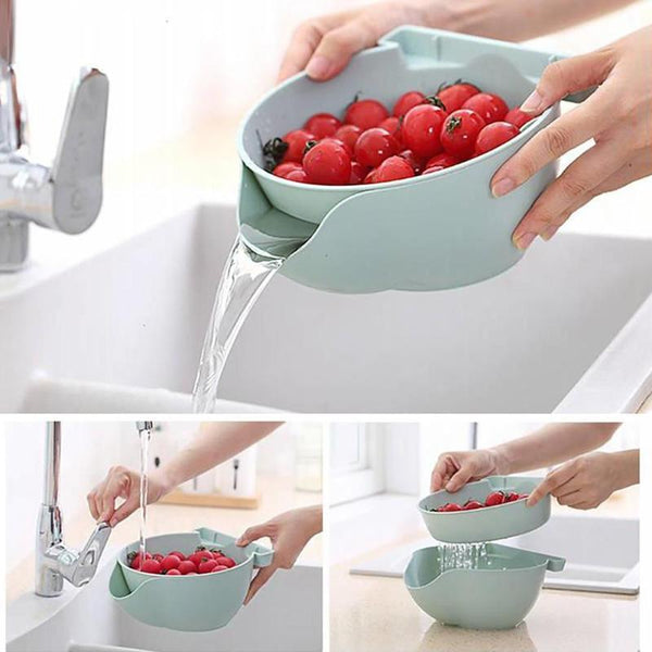 Plastic Lazy Person Fruit Bowl Double Detachable Drain Fruit Bowl Plate Candy Dish Fruit Box Melon Seeds Fruit Candy Skin
