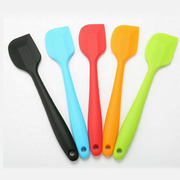 Faroot Multifunction Baking Spatula Mini Small Silicone Ecoo-friendly Spatula Heat Reistant Icing Spoon Scraper 5 Color