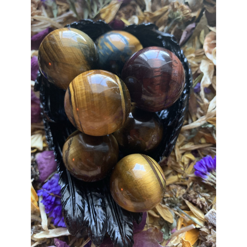 Tigers Eye Mini Spheres