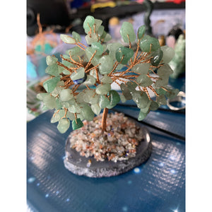 Crystal Copper Tree on Agate Slice
