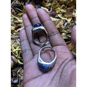 Kyanite Ring Adjustable