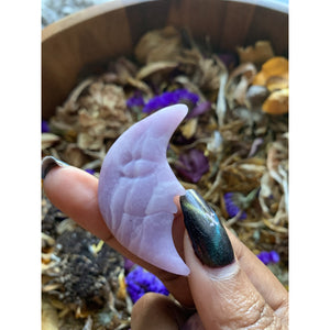 Purple Mica Crescent Moon
