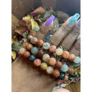 Multi Colored Agate Bracelet