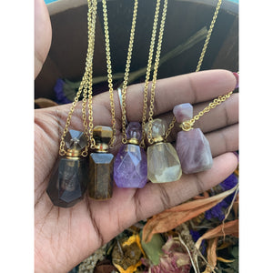 Essential Oil Crystal Vial Necklace