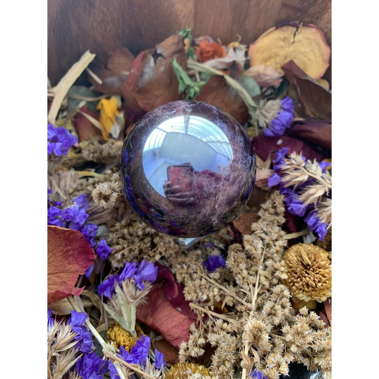 Aura Dream Amethyst Sphere w/ stand