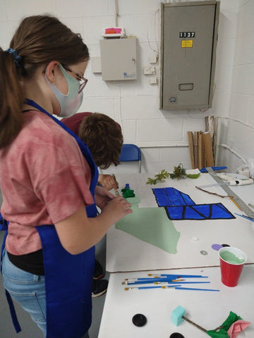 The city of the future- green project for kids age 8- 14 to learn how recycle and reuse materials