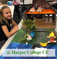 House Near The Lake, Architectural class for kids age 8-14 at Harper College CE
