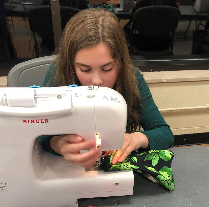 AnetaArtClasses Sewing Class  for kids age 8-14 at Schaumburg Park District