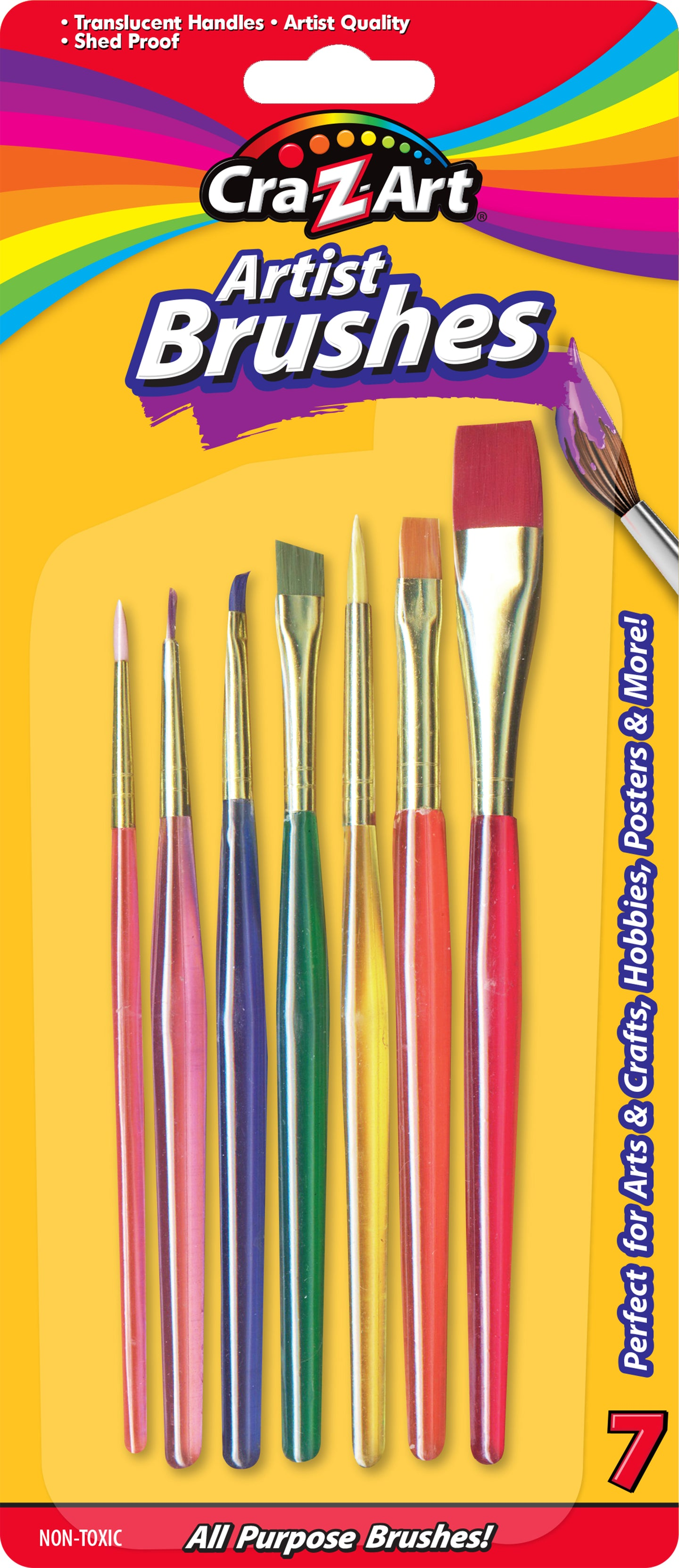 Artist Brushes -7 Count