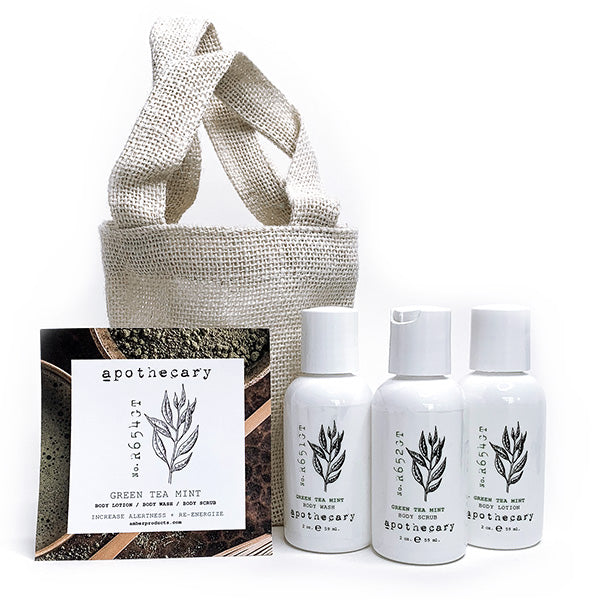 Amber Apothecary Travel Set - Green Tea Mint