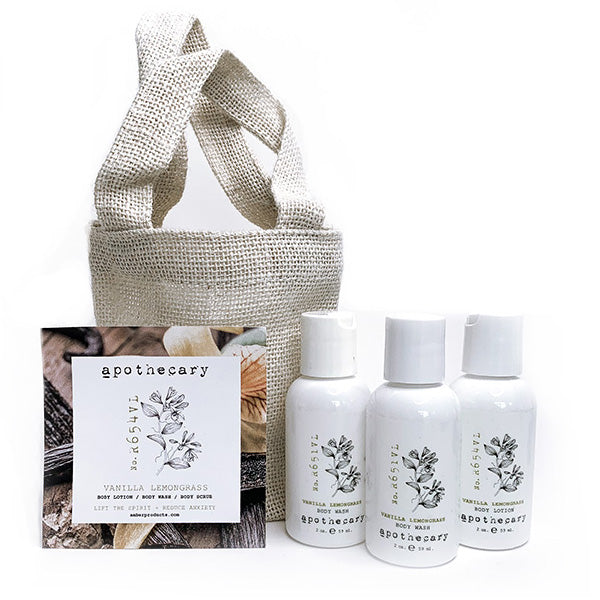 Amber Apothecary Travel Set - Vanilla Lemongrass