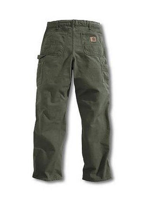 Carhartt Men's Washed Duck Work Dungarees Loose Original Fit - Moss