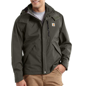 Carhartt Shoreline Waterproof Breathable Jacket Big & Tall - OLIVE COLOR