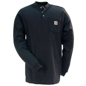 Carhartt Men's Long Sleeve Workwear Henley Shirt - Black