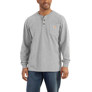 Carhartt Men's Long Sleeve Workwear Henley Shirt - Heather Grey