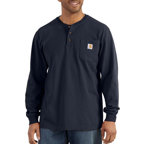 Carhartt Men's Long Sleeve Workwear Henley Shirt - Port
