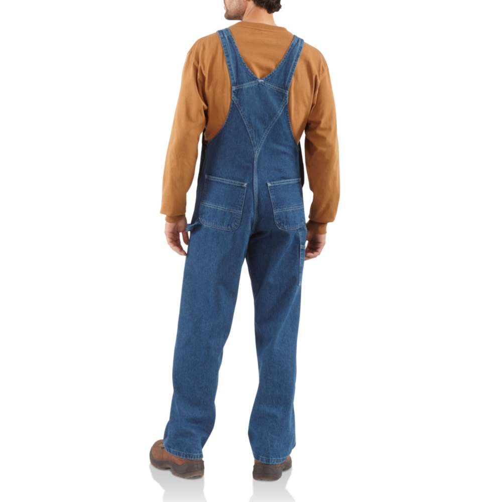 Carhartt Men's Washed Denim Bib Overalls - Darkstone