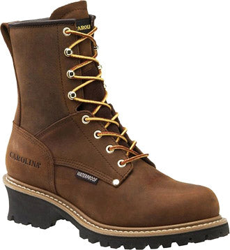 "Men's Carolina 8"" Steel Toe WP Logger Work Boot CA9821"