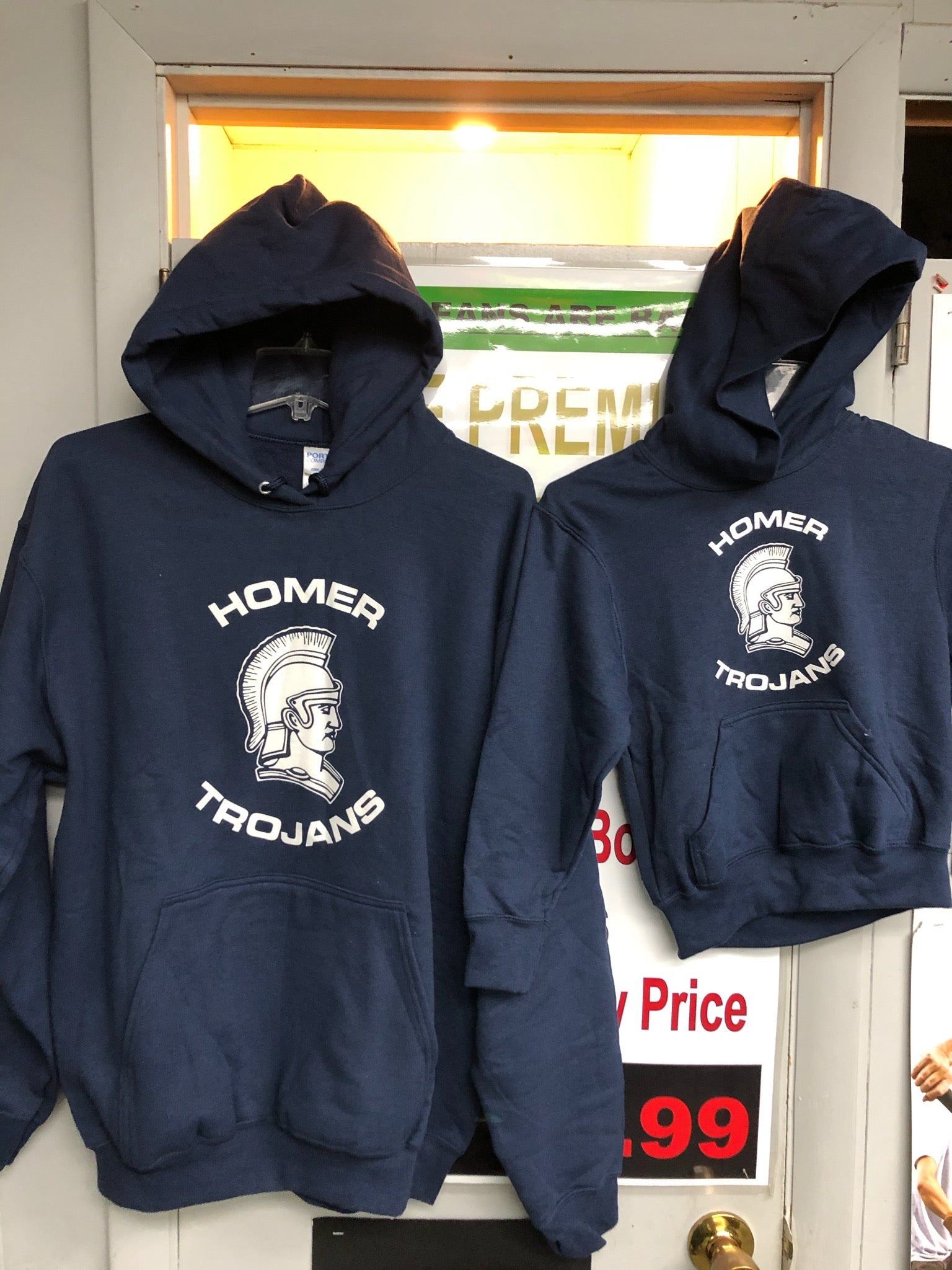 HOMER TROJAN PULLOVER HOODED SWEATSHIRT