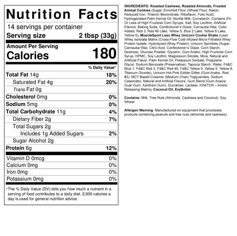 FIt Butters Frosted Animal Cookie Nutrition