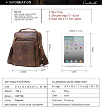 Load image into Gallery viewer, Original Crazy Horse Cow Leather Bag for MEN