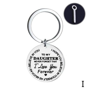 Lettering Keychain To My Daughter