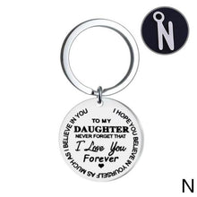 Load image into Gallery viewer, Lettering Keychain To My Daughter