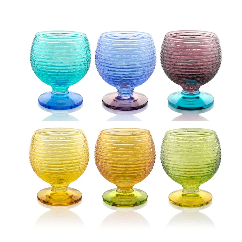 SET 6 CALICE ACQUA CL 30 MULTICOLOR IVV - Colori assortiti