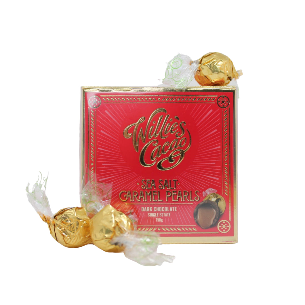 Sea Salt Caramel Pearls - Willie's Cacao 150g