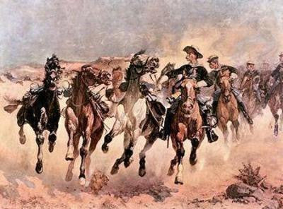 Dismounted: The Fourth Troopers Moving 1890