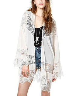 Women Cover Up Chiffon Sheer Loose Kimono Capes Cardigan - Coendy