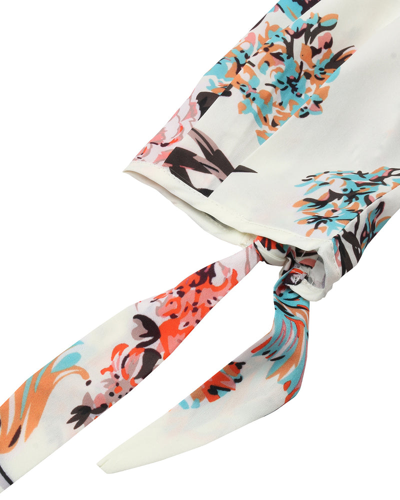 Women's Off Shoulder 3/4 Sleeve Floral Blouse