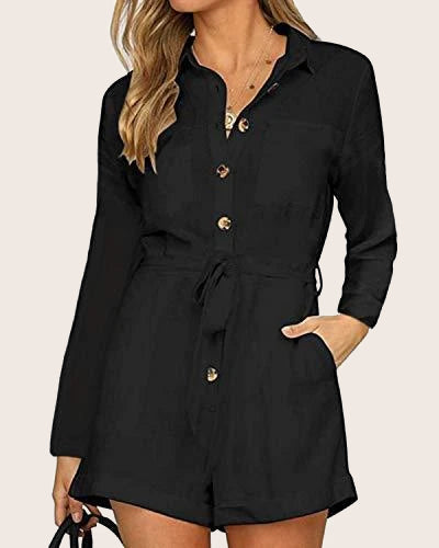Women Rompers Long Sleeve Playsuits - Coendy