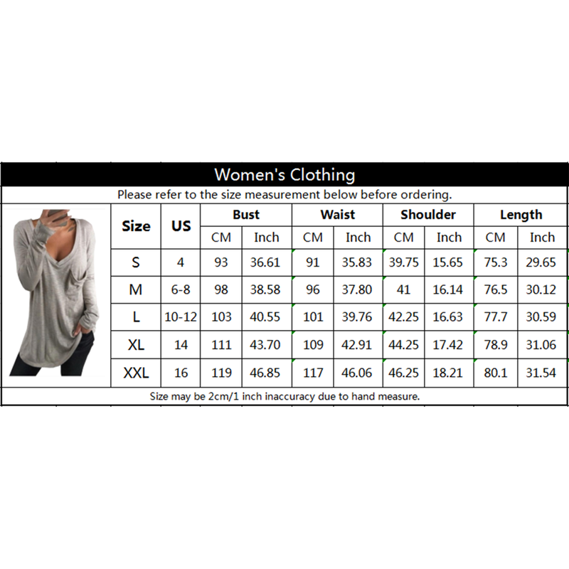 Women's Long Sleeve Blouse T-Shirt Casual Tee Round Neck Solid Shirts Loose Tunic Tops - Coendy