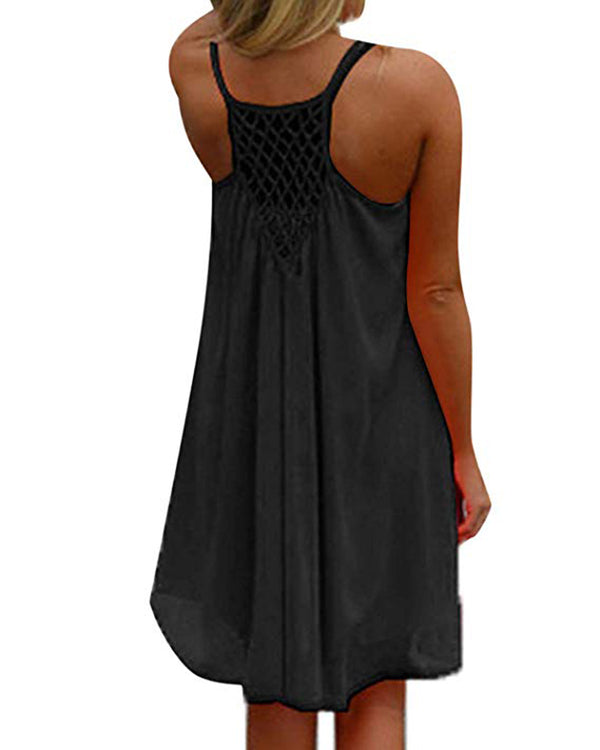 Women's Summer Halter Sleeveless Dress Beach Bikini Swimsuit Cover Ups