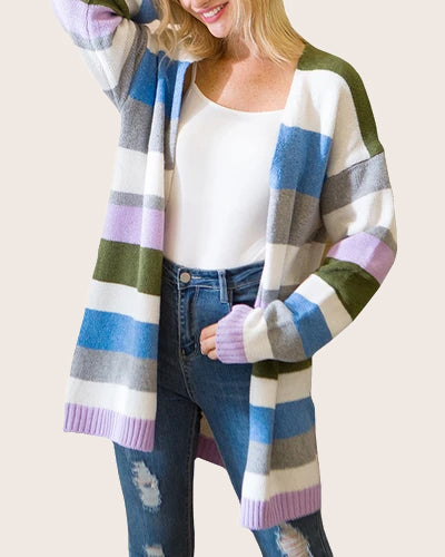Women Open Front Long Sweater Cardigans Boho Coat - Coendy