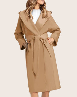Women Trench Coat Lapel Outwear Cardigan - Coendy