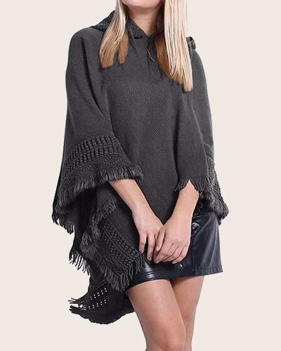 Women's Ponchos Shawls Capes Hoodies - Coendy