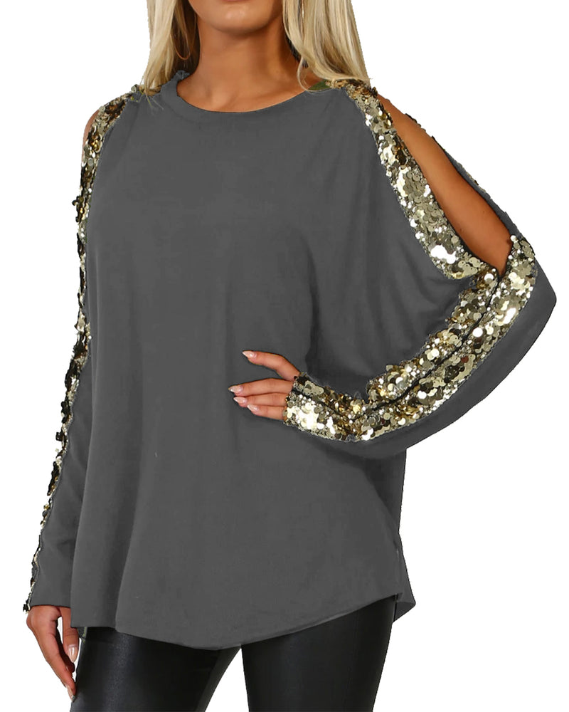 Women Cold Shoulder Tops Shirts Blouses - Coendy