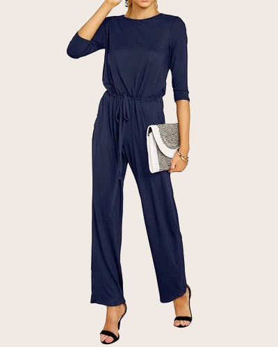Women Elastic High Waist Casual Jumpsuit - Coendy