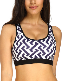 Women Sport Bras Racer Back Removable Padded Active Yoga Workout - Coendy